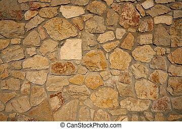 Masonry wall stonewall in Mediterranean background