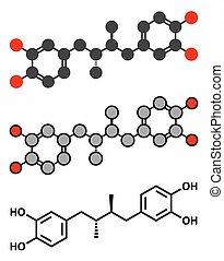 Masoprocol skin cancer (actinic keratosis) drug molecule.