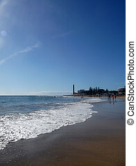 Maspalomas Lighthouse And Beach View