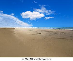 Maspalomas Playa del Ingles beach in Gran Canaria -...
