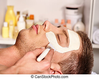 masque, beauté, spa., argile, facial