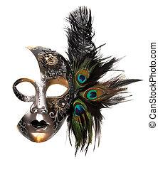 masque, carnaval, orné
