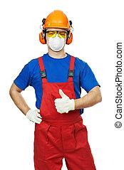 masque, constructeur, essence, lunettes protectrices, ...