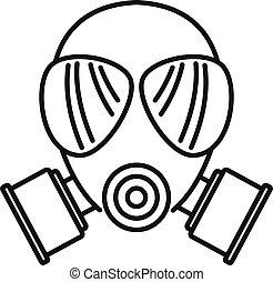 masque, contour, chimique, icône, style