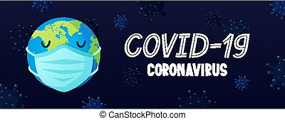 masque, coronavirus, la terre, text., figure, covid-19