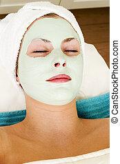 masque, facial, relaxation