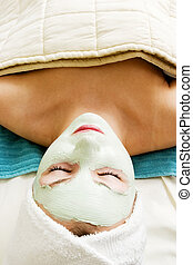 masque, facial, relaxation