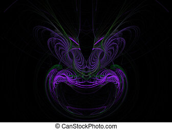 masque, fractal, formé