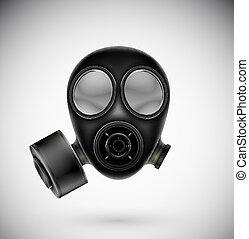 masque gaz, isolé