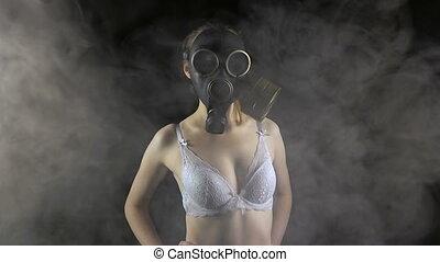 masque, girl, essence, jeune, soutien gorge