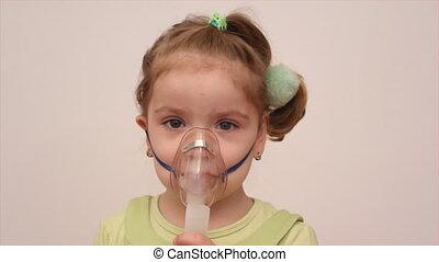 masque, inhalation, enfant