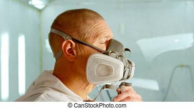 masque portant, mécanicien, 4k, garage, essence