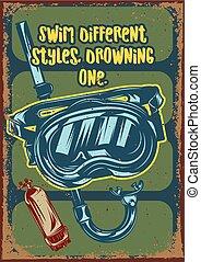 masque pour plongée sousmarine, illustration