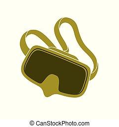 masque pour plongée sousmarine, isolé, icône