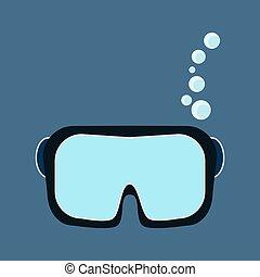 masque pour plongée sousmarine, scaphandre, équipement,...