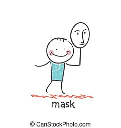 masque, tenue, homme