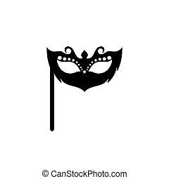 Masquerade Carnival Mask Icon and symbol logo