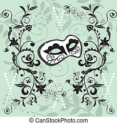 Masquerade - Ornate Venetian mask seamless pattern vector...