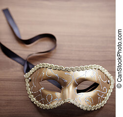 Masquerade mask - celebration concept, selective focus on...