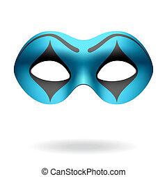 Masquerade mask - Vector illustration of a masquerade mime...