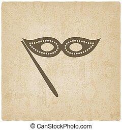 Masquerade mask symbol old background