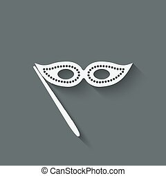 Masquerade mask symbol - vector illustration. eps 10