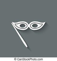 Masquerade mask symbol
