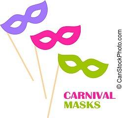 Masquerade mask vector icon