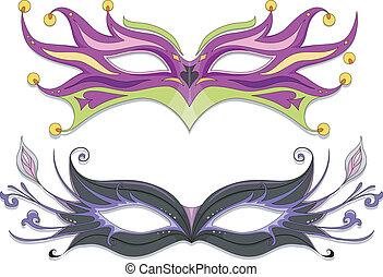 Masquerade Masks - Illustration Featuring Fancy Masquerade...