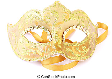 masquerade theatrical mask - masquerade female golden...