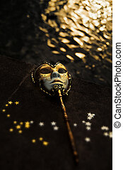 Masquerade - Venetian Mask by the River