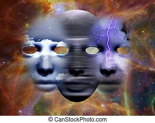 masques, espace