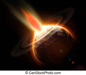 Mass extinction from a comet - Mass extinction doomsday...