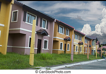 Mass housing row house ready for occupancy - spring season...
