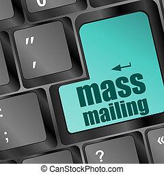 mass mailing keyboard computer pc button