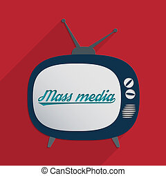 Mass media - Concept for information society, globalization,...
