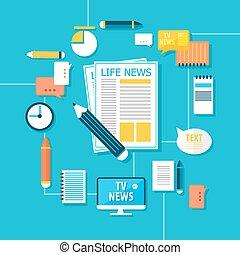 Mass Media Correspondent Infographic Concept - Mass Media...