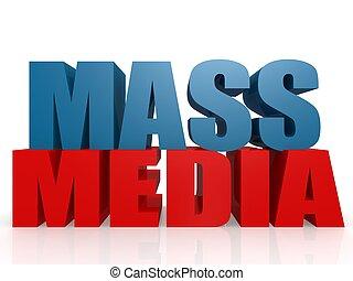 Mass media - Hi-res original 3d rendered computer generated...
