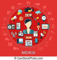 Mass Media Round Design Concept - Mass media round design...