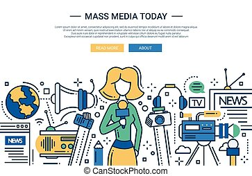 Mass Media Today - line design website header