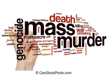 Mass murder word cloud concept
