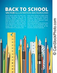 Mass pencils - Back to school vector illustration. Many...