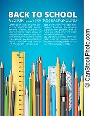 Mass pencils - Back to school vector illustration. Many...