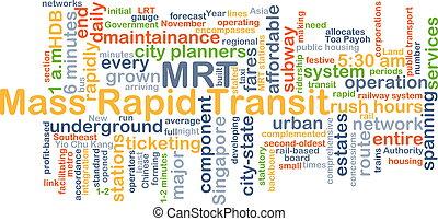 Mass rapid transit MRT background concept - Background...