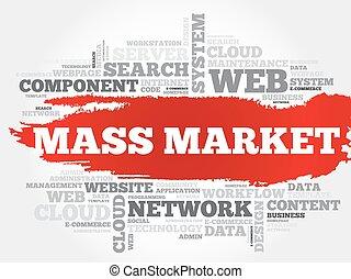 massa, mercato, parola, nuvola