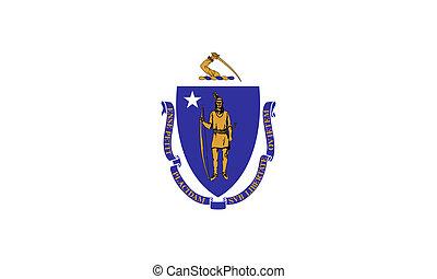 massachusetts, bandera del estado