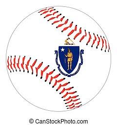 Massachusetts Flag Baseball