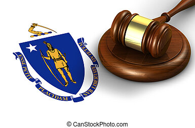 Massachusetts Law Legal System Concept