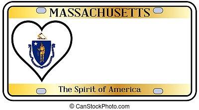 Massachusetts License Plate - Massachusetts state license...