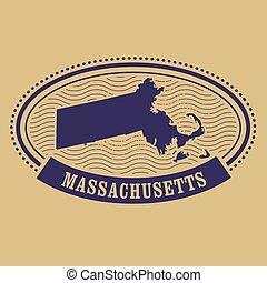 Massachusetts map silhouette